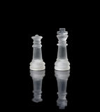 Chess queen and king Royalty Free Stock Photography