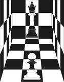 Chess, Queen and pawn Stock Image