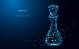 Chess Queen symbol of power. Abstract image of a luxury power in the form of a starry sky or space. vector illustration