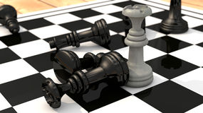 Chess queen win Stock Image