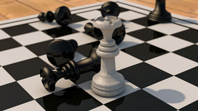 Chess queen win Royalty Free Stock Photo
