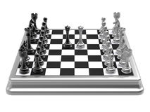 Chess queens duel concept Stock Photo
