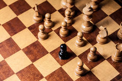 Chess racism Royalty Free Stock Photos