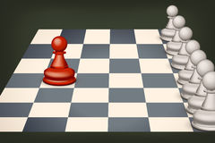 Chess with red Royalty Free Stock Image