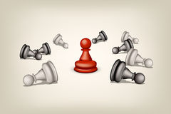 Chess with red Stock Photography