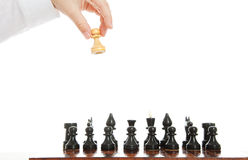 Chess right move Royalty Free Stock Image