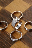 Chess rings stock image
