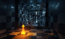 Chess room Stock Images