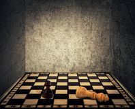 Chess room limitations stock photography