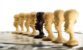 Chess in a row Stock Photos