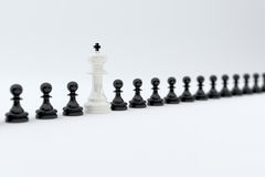 Chess row concept Royalty Free Stock Images
