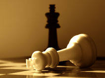 Chess scenario- black wins Royalty Free Stock Photography