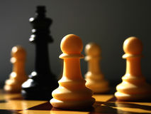 Chess scenario II stock photos