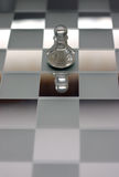 Chess scene Pawn. Close up. Chess concept. Chess pawn and reflection royalty free stock photos