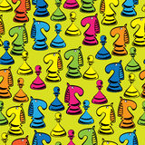 Chess of seamless pattern Royalty Free Stock Photos