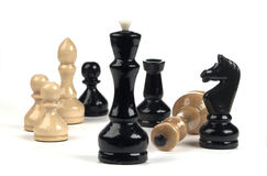 Chess-series group of figurines Royalty Free Stock Photography