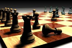 Chess set. A very popular game but with a little challange Stock Photography