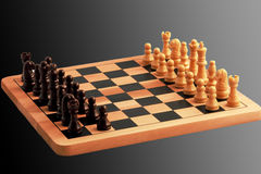 Chess Set. A chess set ready to play Stock Images