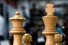Chess set with king and queen Stock Image