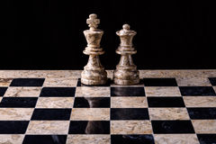 Chess set king and queen Royalty Free Stock Photo