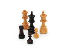 Chess set pieces. Shot of some chess set pieces Royalty Free Stock Photography