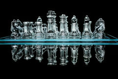 Chess set with reflection Royalty Free Stock Photo