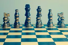 Free Chess Set Retro Photo With Chess Board. Stock Photography - 50523482