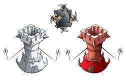 Chess set: Rooks Stock Photography