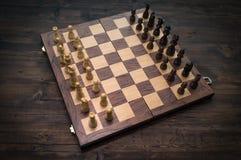 Chess Set Up Beginning Royalty Free Stock Image
