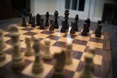 Chess Set Up Beginning Stock Images