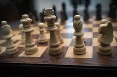 Chess Set Up Beginning Royalty Free Stock Photography