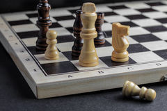 Chess set up, game strategy concept. Royalty Free Stock Images
