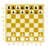 Chess set vector illustration on white background with a chessboard stock illustration