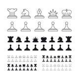 Chess set vector illustration on white background Stock Images