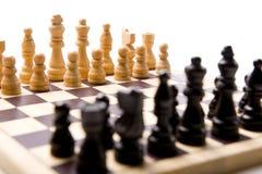 Chess Set on white Background Royalty Free Stock Photos