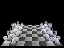 Chess Set  X-ray Stock Photo