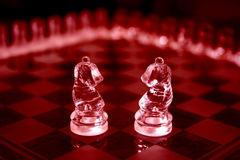 Chess Sets. Loving knights Stock Photos