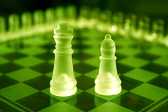 Chess Sets. King and bishop from same set Stock Image