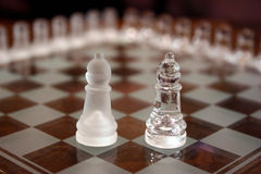 Chess Sets. Two different bishops Stock Photo