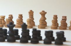 Chess. shot of chess with bokeh royalty free stock photo