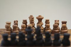 Chess. shot of chess. chessboard and bokeh stock images