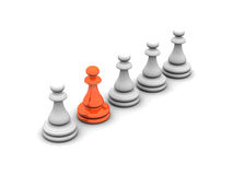 Chess-show youself Stock Images