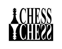 Chess Sign royalty free illustration