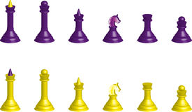 Chess  Silhouettes 3D Royalty Free Stock Images