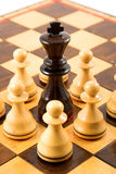 Chess situation Royalty Free Stock Photo