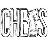 Chess sketch Royalty Free Stock Photos