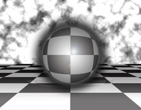 Chess sphere background Royalty Free Stock Images