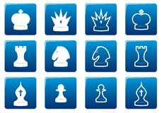 Chess square icons set. Stock Photography