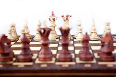 Chess on star. Chess figure on start the game Royalty Free Stock Photo