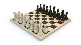 Chess start. Starting position of strategy board game, chess vector illustration